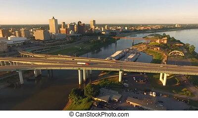 Memphis Tennessee Skyline Mississippi River Hernando de Soto...