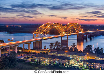Hernando de Soto Bridge - Memphis, Tennessee, USA at...