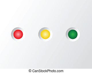 mené, blanc, statut, lumière