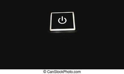 mené, bouton puissance, dur, informatique, 4k, disk.,...