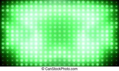 mené, vj, arrière-plan vert, animé, boucle