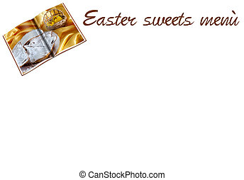 menù of Carnival and Easter sweets