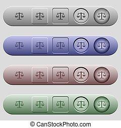 menú, barras, balance, horizontal, iconos