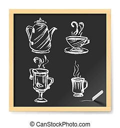 menú, café