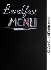 menú, desayuno