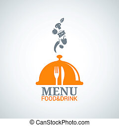 menú, diseño, alimento, bebida, platos, plano de fondo