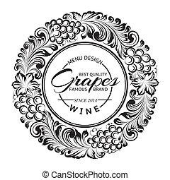 menú, diseño, con, radial, frame.
