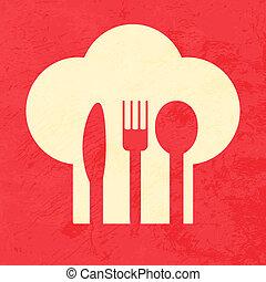 menú, diseño, restaurante