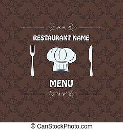menú, diseño, resto