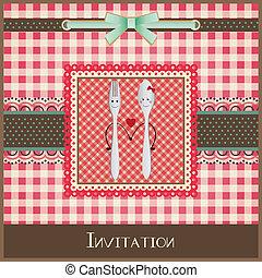 menú, diseño, tarjeta de felicitación, o