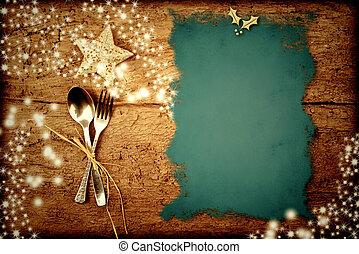 menú, navidad, plano de fondo