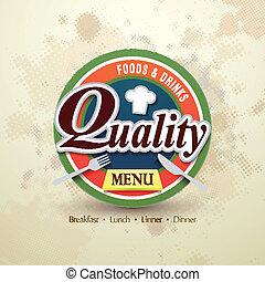 menú, restaurante
