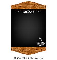 menú, tabla, restaurante