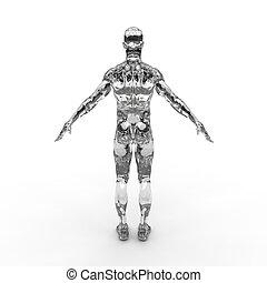 Men 3d illustration design