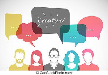 Men and women avatar profile picture set. Vector...