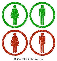 Men and women grunge icons