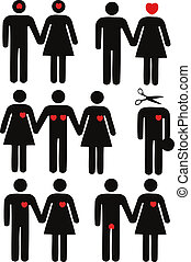 Men and women icons. Graphic elements se