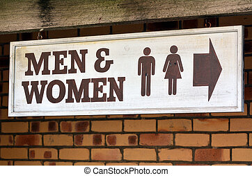 Men and Women toilets - Men and Womae toilet sign and...
