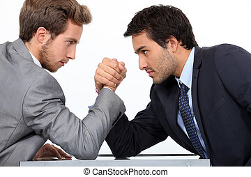 Men arm wrestling