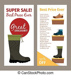 Men autumn boots vertical flyers
