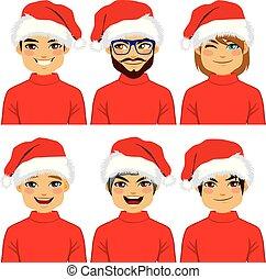 Men Avatar Santa Claus Hat