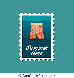Men Beach Shortsl flat stamp