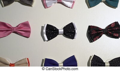 Men bow ties in a store - Men bow ties in a fashion clothes...
