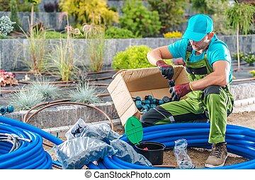 Building Garden Watering System