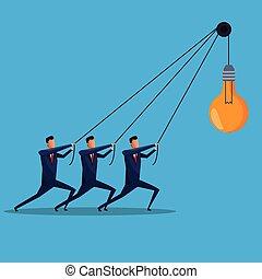 men business collaboration bulb idea creative