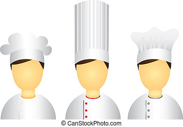 men chef icons isolated over white background. vector