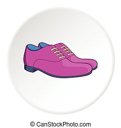 Men classic shoes icon, cartoon style