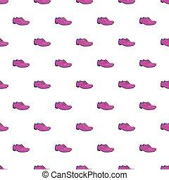 Men classic shoes pattern, cartoon style