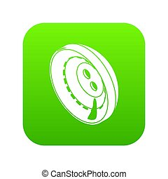 Men clothes button icon green