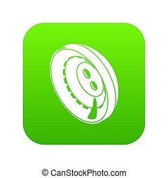 Men clothes button icon green