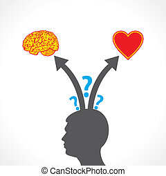 men confuse between brain and heart