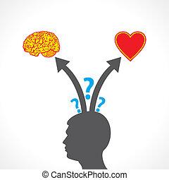 men confuse between brain and heart