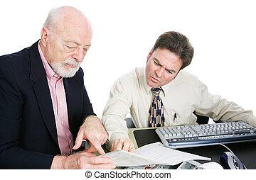 Men Doing Taxes