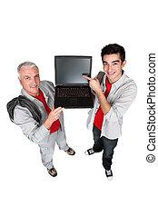 Men embracing technology