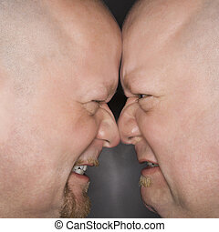 Men face to face.