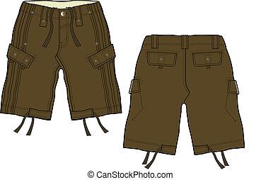 men fashion cargo shorts