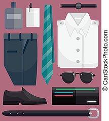 Men Fashion Elements Illustration