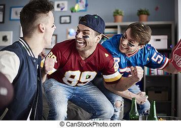 Men feeling such a joy after scoring