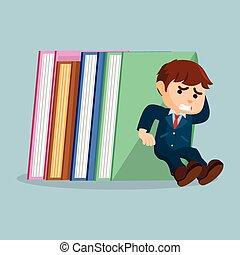 men holding stack of books