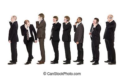 Men in a row