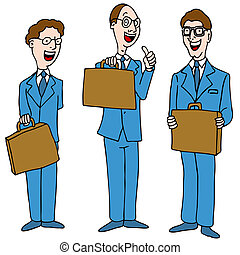 Men in Blue Suits - An image of a legal men wearing blue...