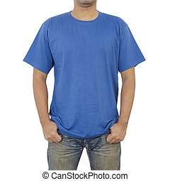 Men in blue T-shirt