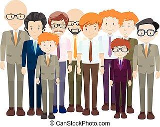 Men in formal suit and tie