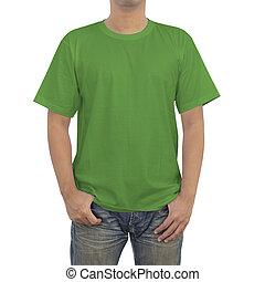 Men in green T-shirt