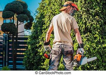 Men in the Garden