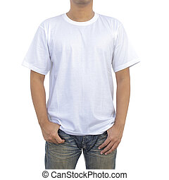 Men in white T-shirt